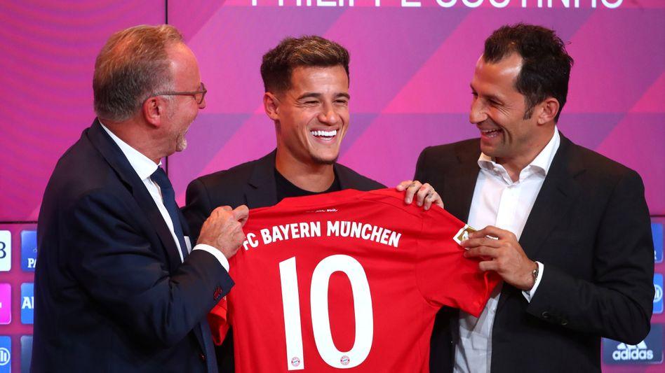 Trägt nicht zum Rekord-Transfermarkt bei, ist aber trotzdem ganz fröhlich: Bayern Münchens neuer Star Philippe Coutinho