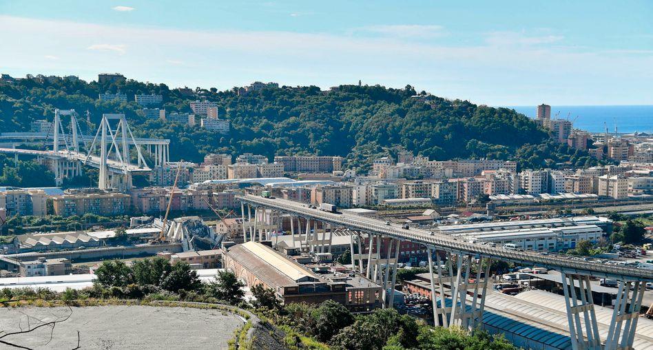Eingestürzte Brücke in Genua: Teure Katastrophe für die Benettons.