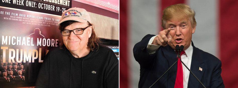 Kurze Amtszeit: Trump-Kritiker Moore (links) erwartet eine Amtsenthebung oder einen Rücktritt von Trump