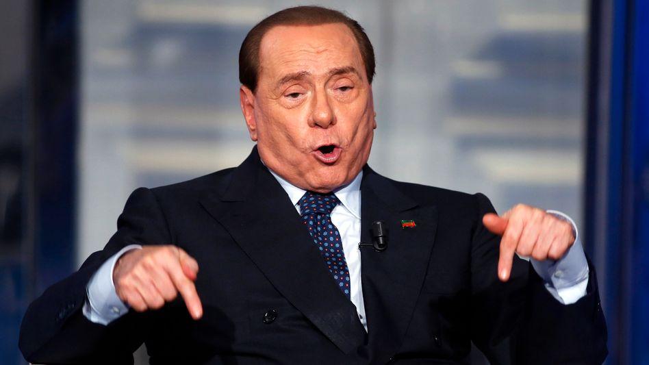 Ein Mann der großen Gesten: Silvio Berlusconi.