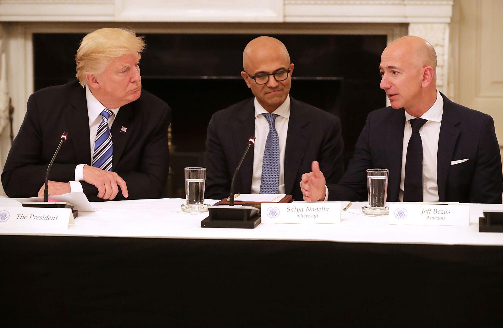 Donald Trump / Stya Nadella / Jeff Bezos