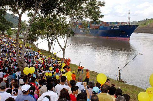 Panamakanal: Ein Schiff von HCI lag in dem mittelamerikanischen Land an der Kette