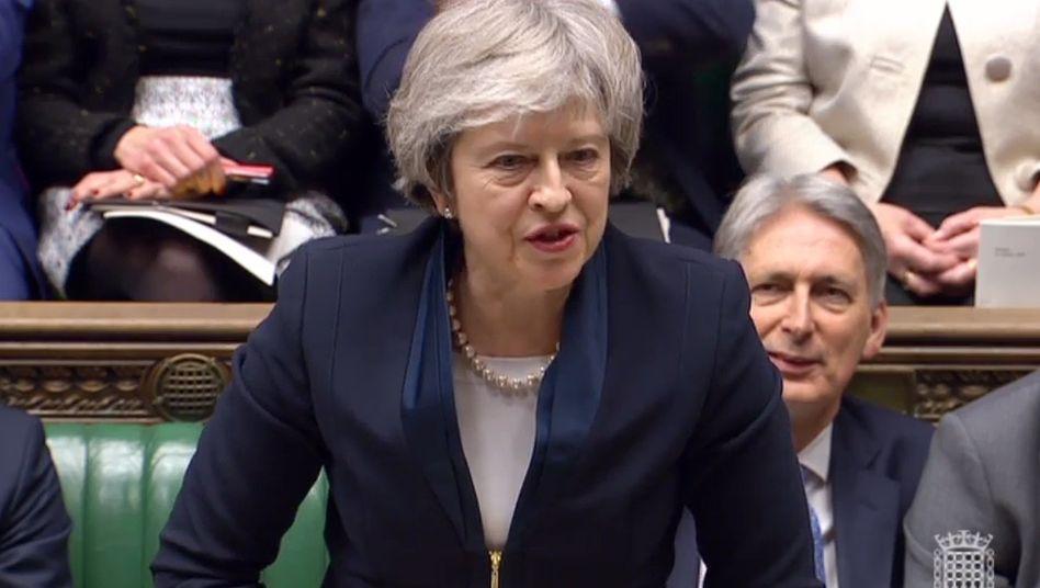 Theresa May: Krachende Niederlage im Parlament. Ihr Brexit-Deal wurde mit großer Mehrheit vom Unterhaus abgelehnt