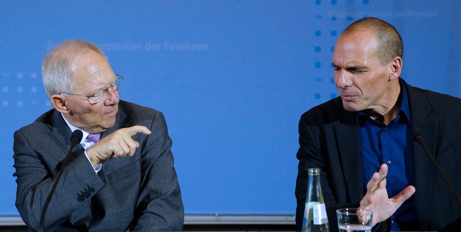 Finanzminister Wolfgang Schäuble wird seinen griechischen Amtskollegen Varoufakis wohl in Zukunft am wenigsten vermissen