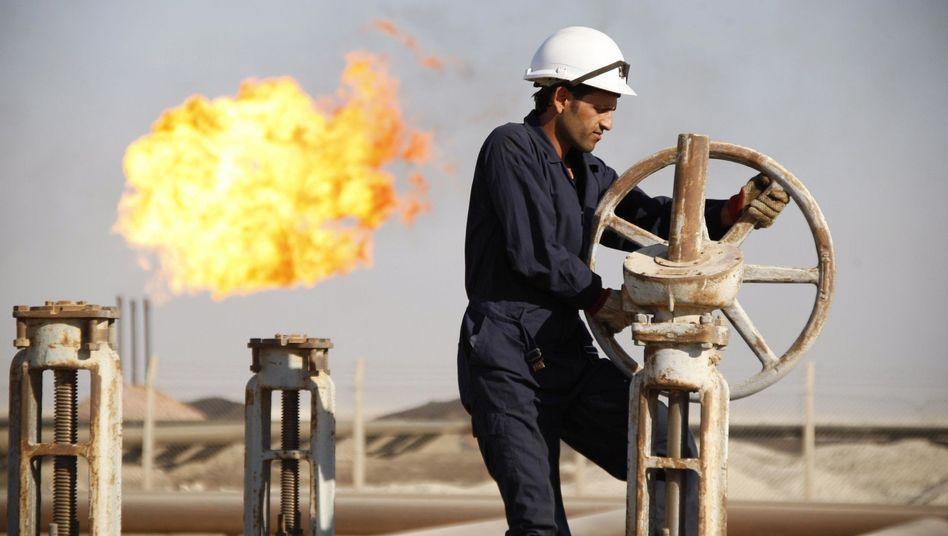 Ölfeld im Irak: Das von Krieg, Bürgerkrieg und IS-Terror zerrissene Land braucht mittelfristig einen Ersatz, sollten die Petro-Umsätze sinken
