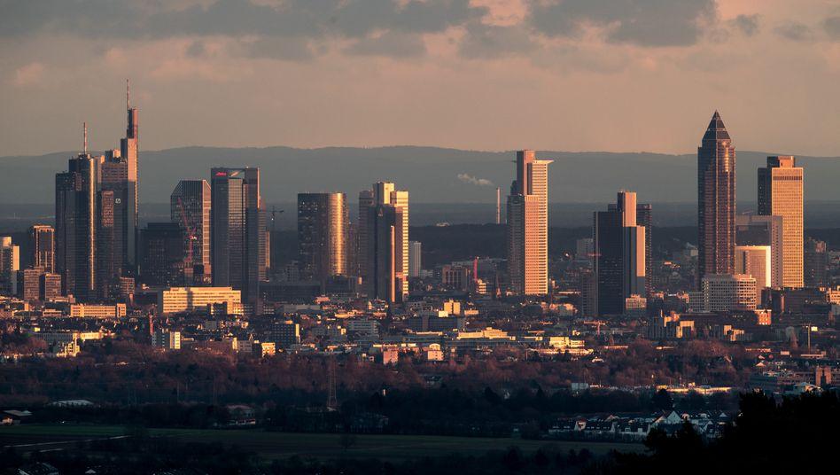 Skyline von Frankfurt am Main.