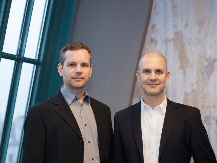 Wimdu-Chefs Sören Kress (l.) und Arne Kahlke