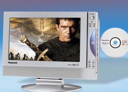 Flachbildschirm mit eingebautem DVD-Spieler