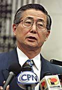 Geheimdienstchef Vladimiro Montesinos leitete den Fall von Präsident Alberto Fujimori (Bild) ein.