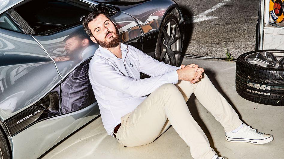 Star der europäischen Autoszene: Mate Rimac mit seinem Carbon-Elektro-Supersportwagen