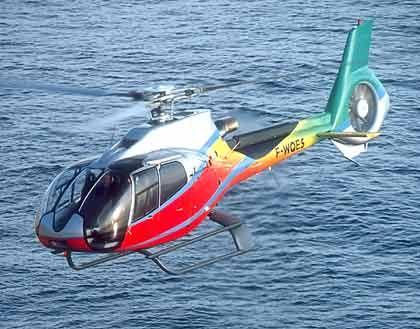 Heli-Revolution: Das Fenestron um den Heckpropeller mindert den Fluglärm beim Eurocopter 130 B4. Künftig soll auch der Hauptrotor leiser knattern.