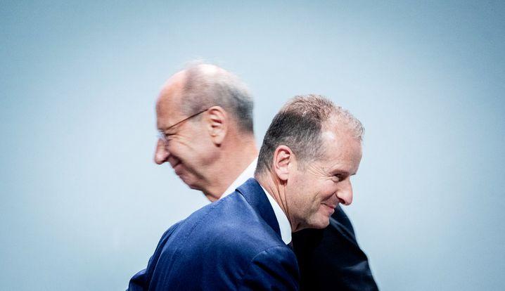 VW-Aufsichtsratschef Hans Dieter Pötsch und Vorstandschef Herbert Diess