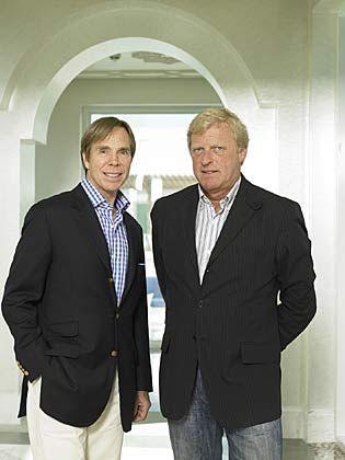 Duett: Firmenchef Fred Gehring (r.) kümmert sich ums Konto, Hilfiger um die Kultur