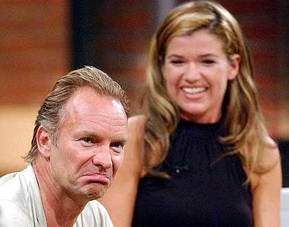 Weltstar: Musiker Sting durfte zwar nicht singen, sich aber dafür unverhohlen von Anke Engelke anschmachten lassen