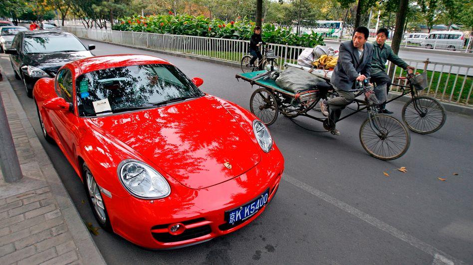 Auch in China ein Blickfang: Porsche verkauft mittlerweile fast jeden dritten Sportwagen in China