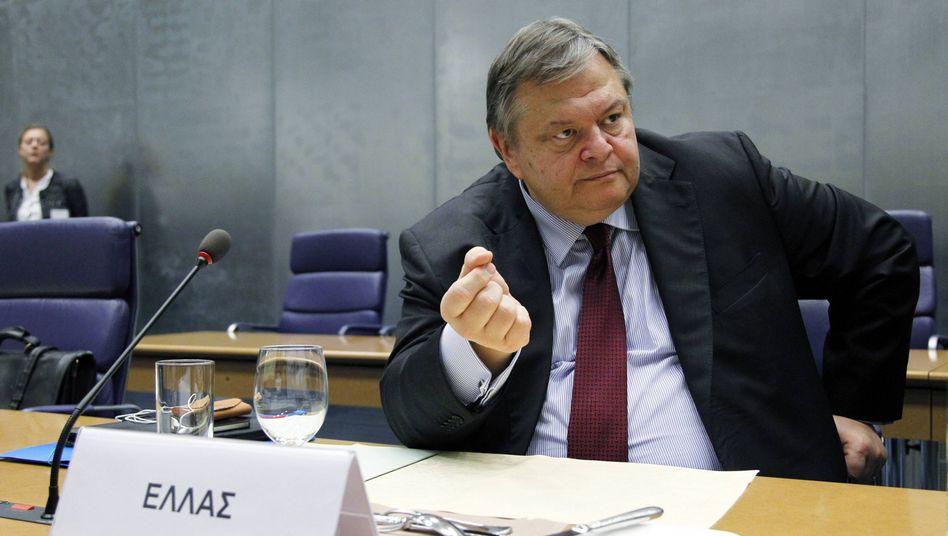 In der Klinik: Griechenlands Finanzminister Venizelos
