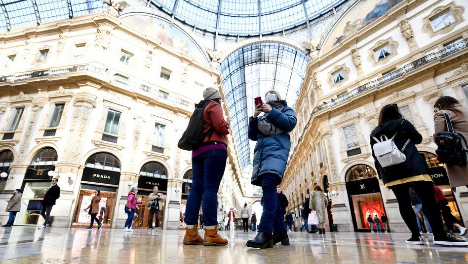 Nicht nur die Wirtschaftsmetropole Mailand, auch die Wirtschaftsregionen Lombardai und Venetien wurden die Sicherheitsvorkehrungen verschärft. Sie haben viel zu verlieren.