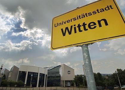 Zukunft ungewiss: Gebäude der Uni Witten-Herdecke