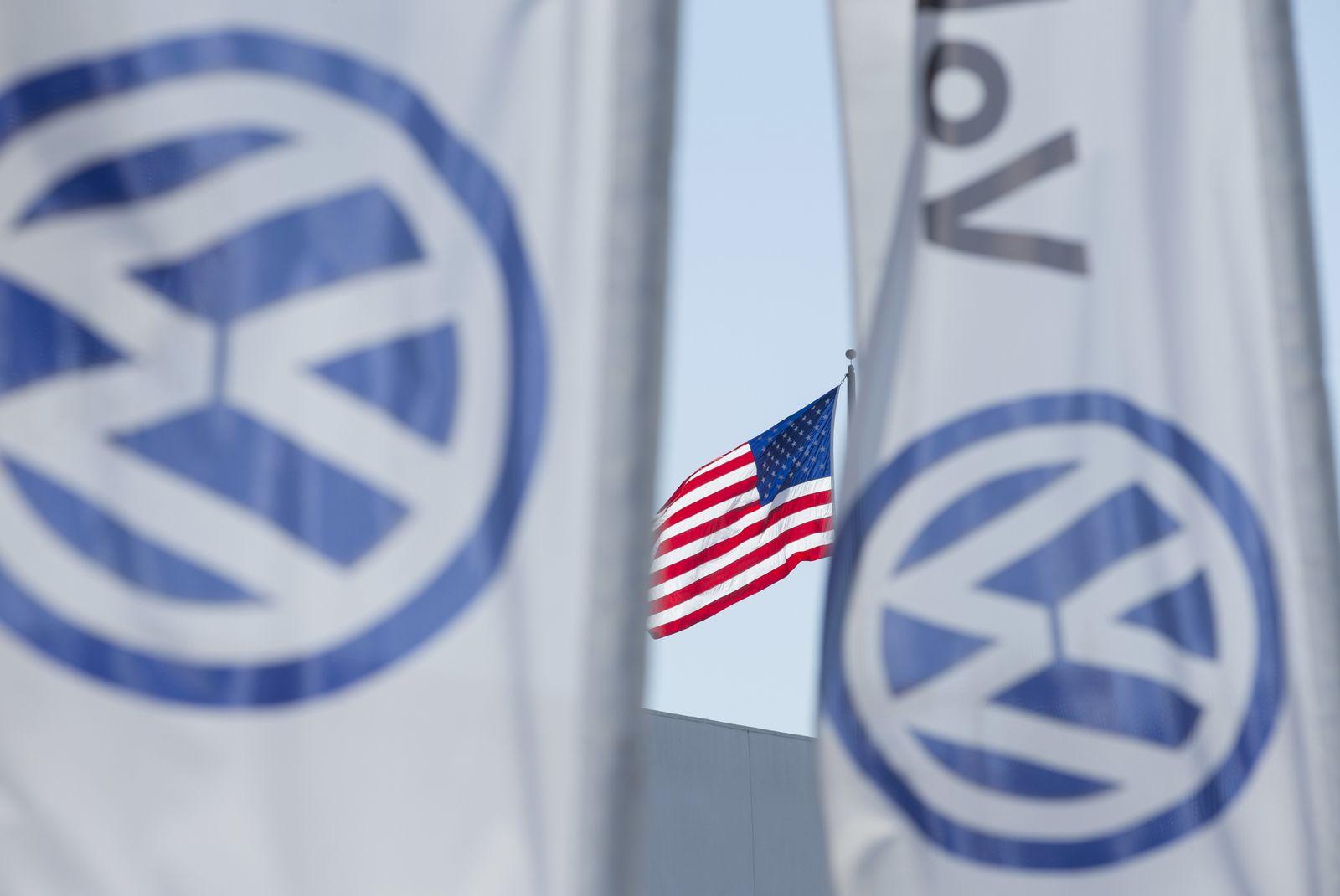 VW / Autohändler / USA / US-Fahne