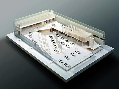 Modell des BMW-Stands: Großer Aufwand für die Heimatmesse