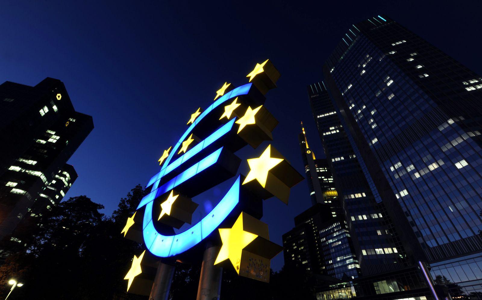 NICHT VERWENDEN EZB / Euro-Zeichen / Europa/Finanzkrise
