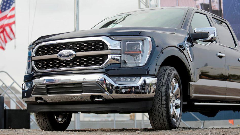 Schwere Maschinen gestoppt: Dem Ford F-150, das in den USA meistverkaufte Fahrzeug, fehlen Mikrochips