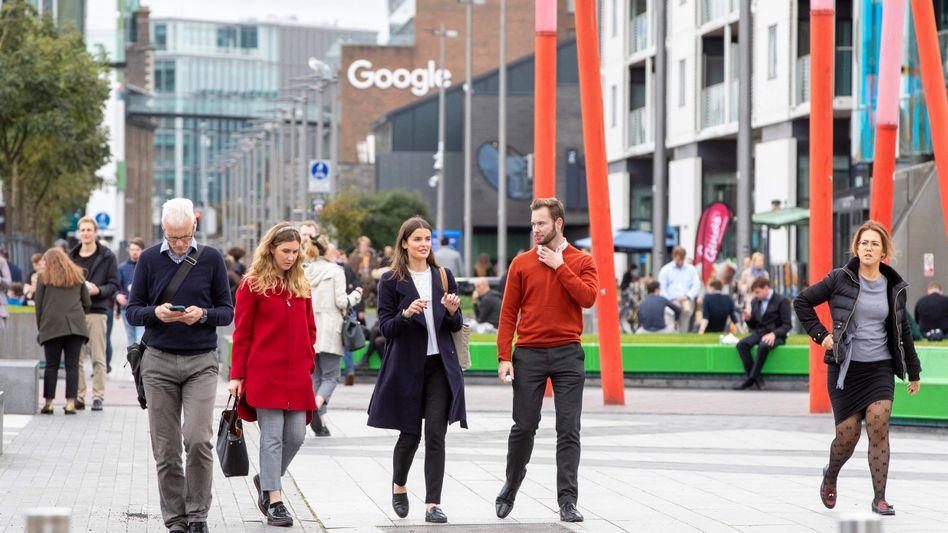 Geschäftsmodell Steuerdumping: Szene in den Docklands von Dublin, wo unter anderem Google seine Europazentrale angesiedelt hat