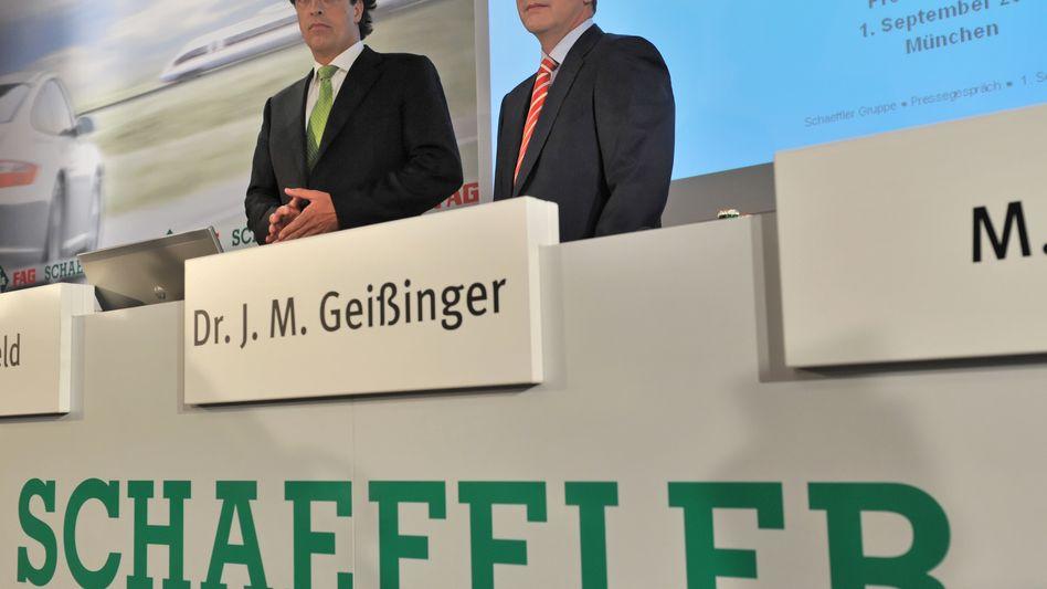 Wechsel an Schaeffler-Spitze: Finanzvorstand Klaus Rosenfeld (l.) wird Jürgen Geißinger (r.) als Vorstandschef des Autozulieferers ablösen