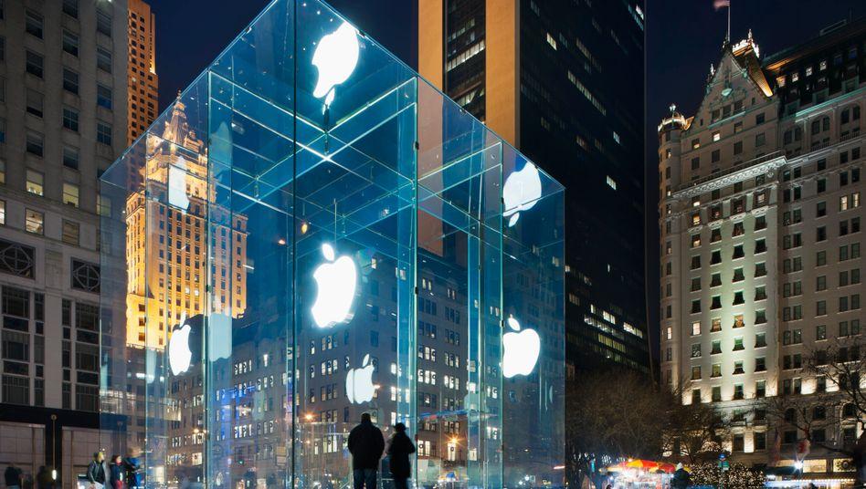 """Apple Store """"The Cube"""" in New York: Wertvollstes Unternehmen der Welt"""