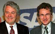 Die Macher an der Spitze der Softwareschmiede: Hasso Plattner (l.) und Henning Kagermann