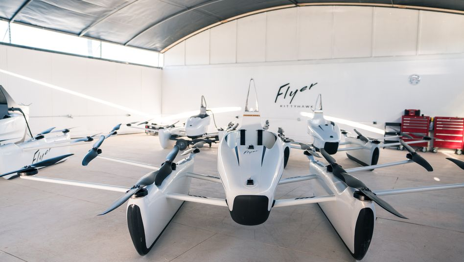 """Kitty Hawks Elektro-Flugeinsitzer """"Flyer"""" wird von Google-Mitgründer Larry Page mitfinanziert"""