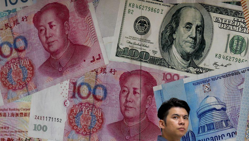Mehr als 7 Yuan pro US-Dollar: Die Yuan-Abwertung ist nicht Pekings einzige Waffe im Handelskrieg. Der größte Gläubiger der USA könnte bald auch US-Anleihen verkaufen