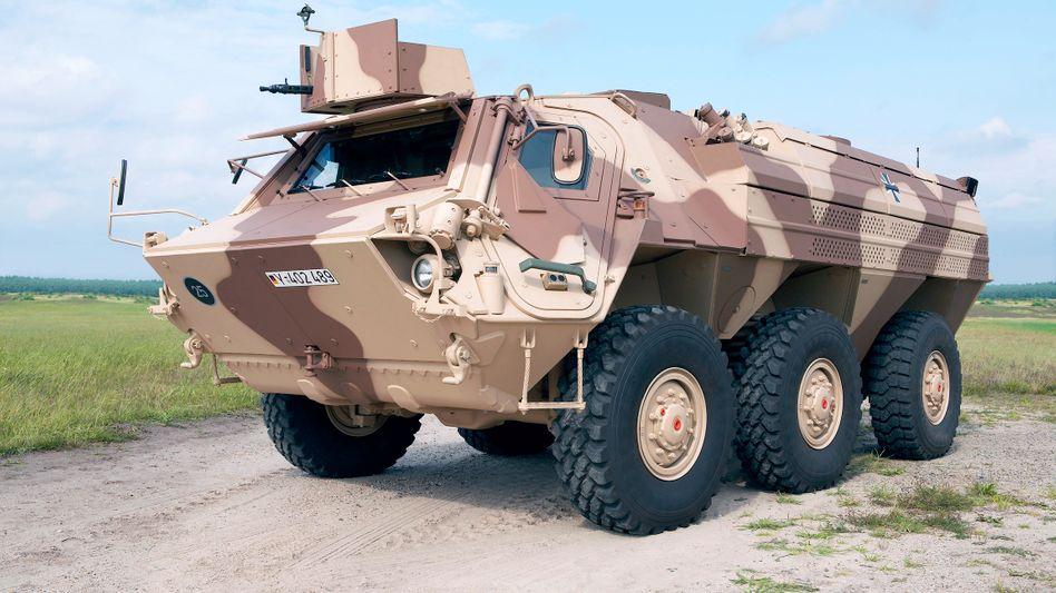 Fuchs-Panzerfahrzeug von Rheinmetall: Eine Fabrik zum Bau solcher Gefährte darf der Waffenhersteller jetzt nach Algerien liefern