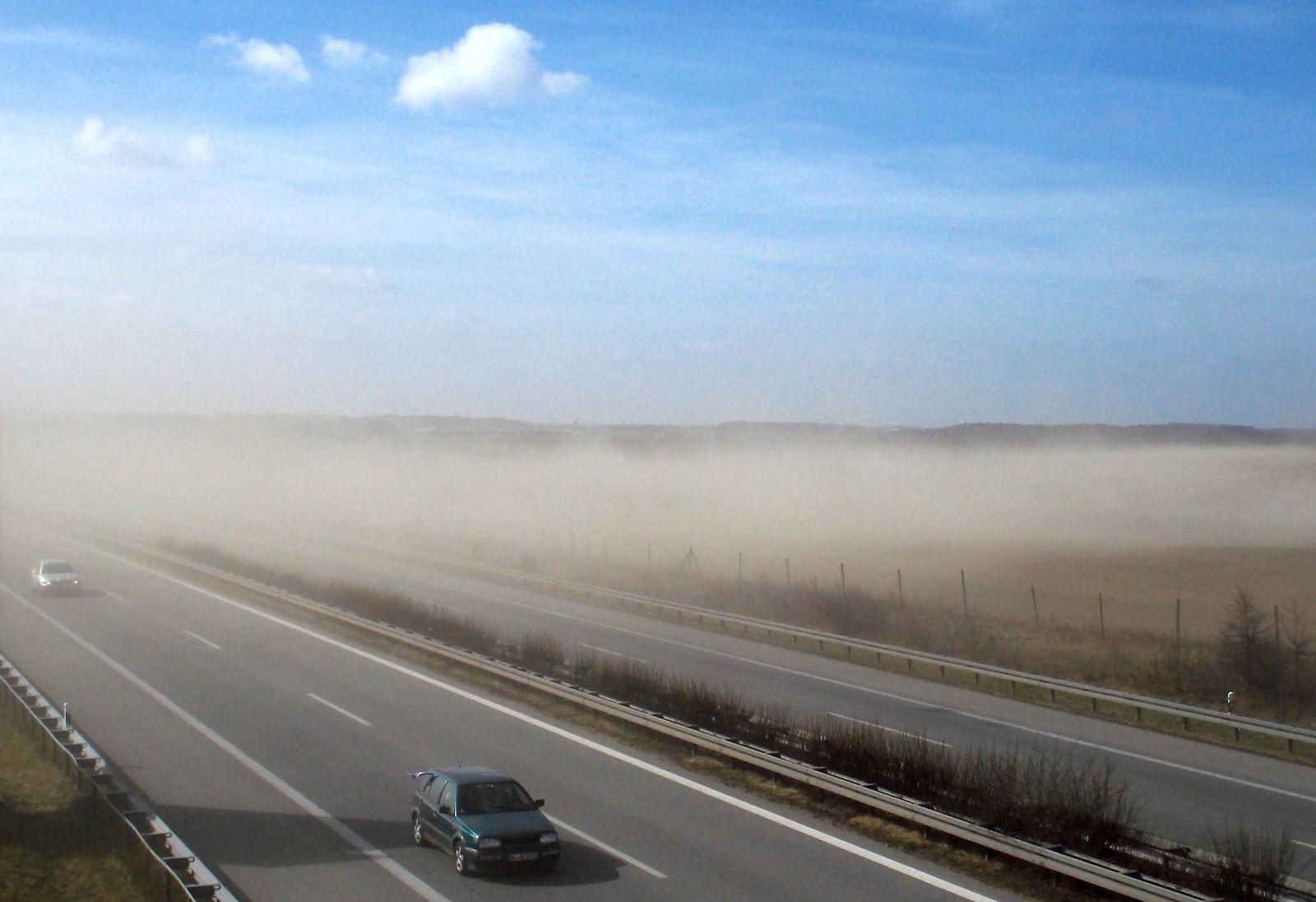 Sandsturm in Mecklenburg-Vorpommern