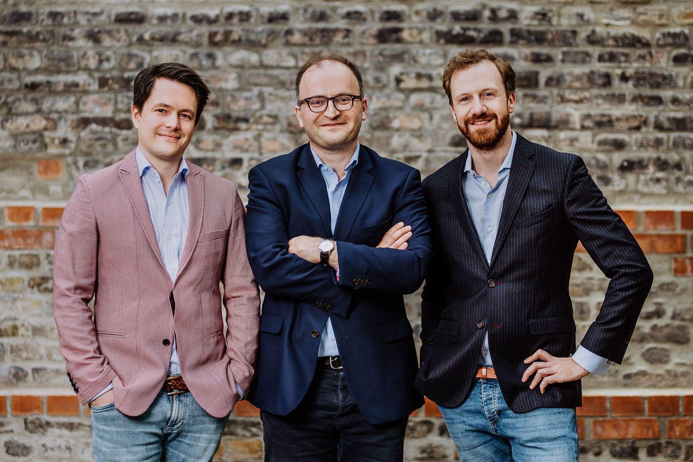 Gründer Michael Stephan, Dr Tamaz Georgadze, Dr Frank Freund / raisin / weltsparen