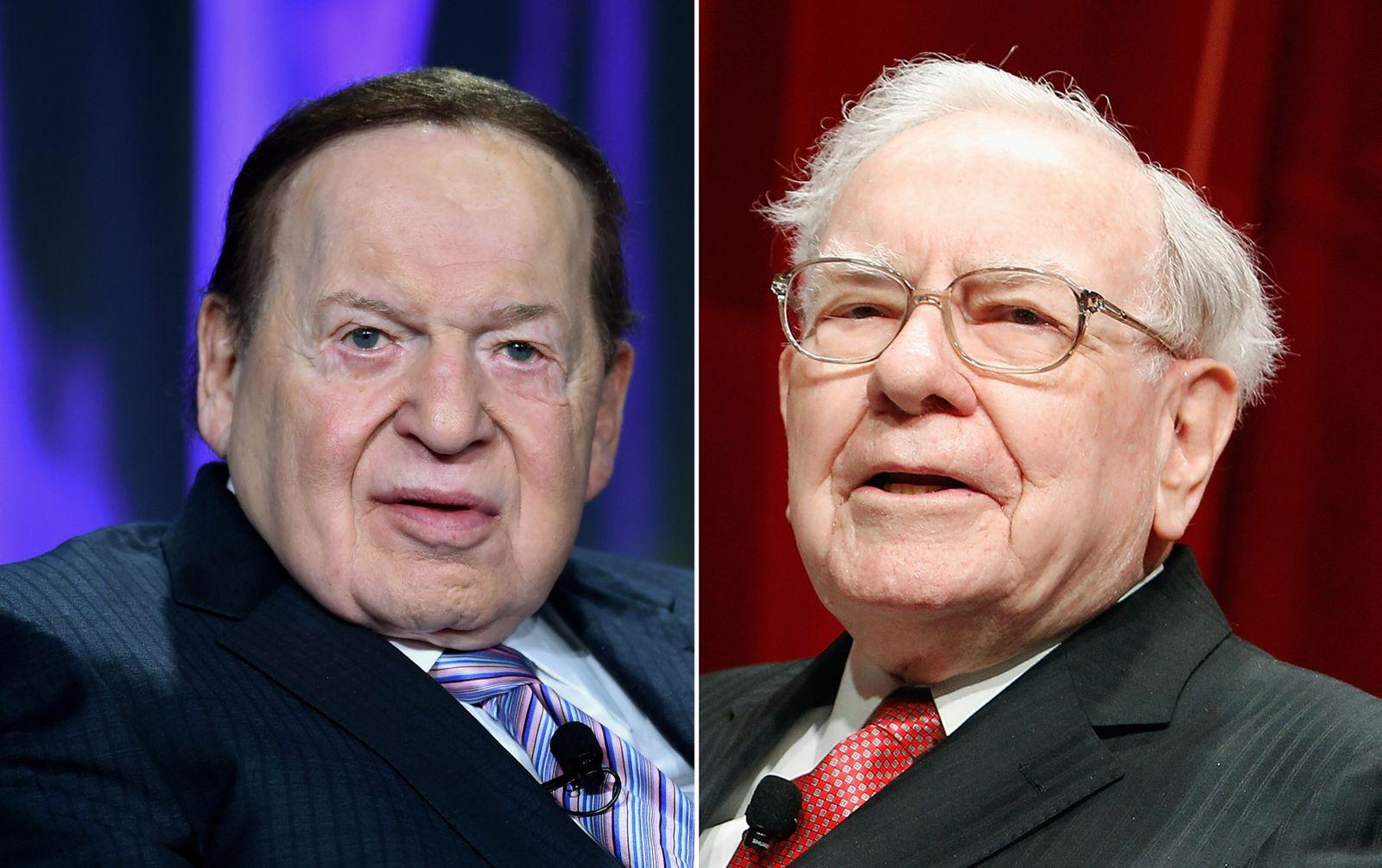 MONTAGE Adelson und Buffett