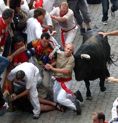 Wie beim Stiertreiben: Vielen Anlegern wird der Bullenmarkt unheimlich