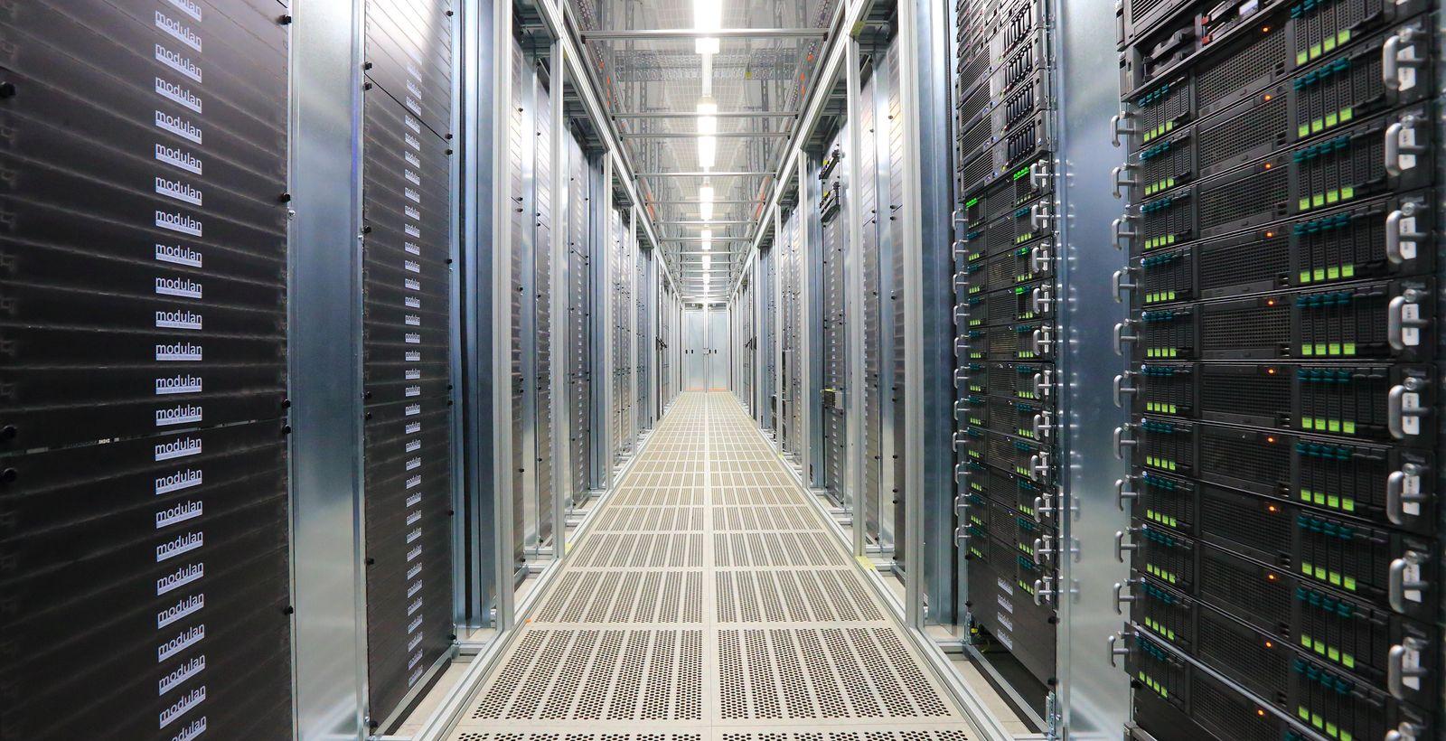 Größtes Telekom-Rechenzentrum vor Inbetriebnahme