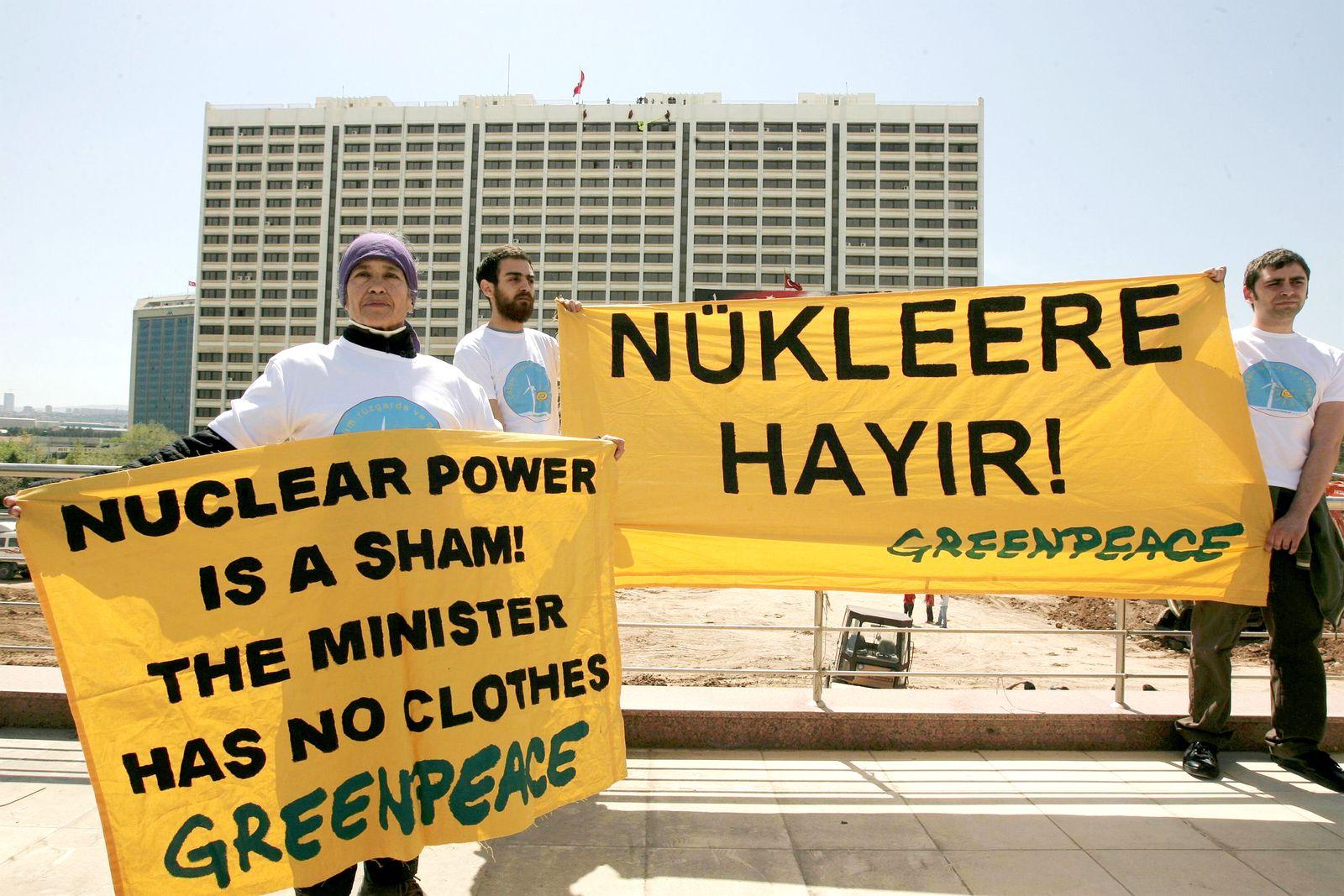 Türkei / Greenpeace / Atom-Protest