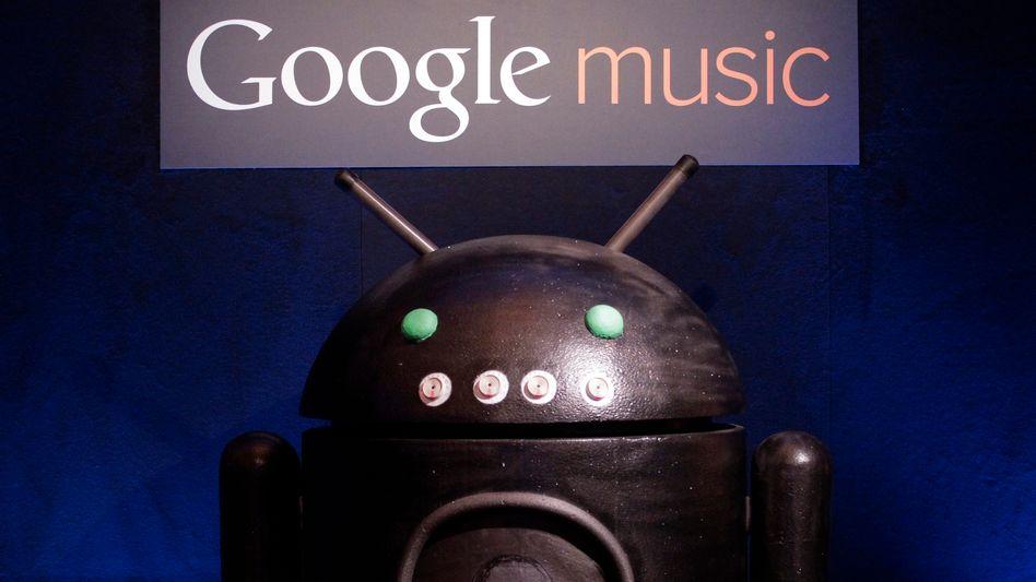 """Google auf den Spuren von Apples iTunes: Mit dem Dienst """"Google music"""" will der Konzern sein Betriebssystem Android aufwerten."""
