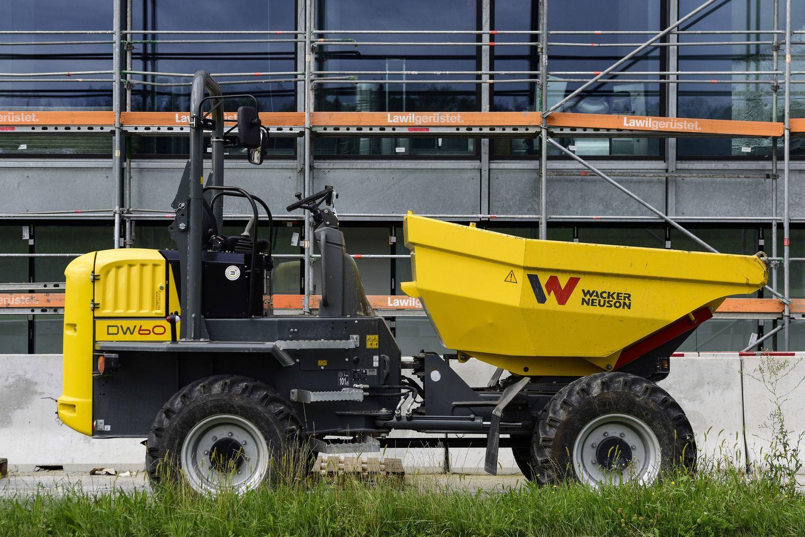 Raddumper DW60 Wacker Neuson Cham Schweiz 15 08 2019 *** Wheel dumper DW60 Wacker Neuson Cham