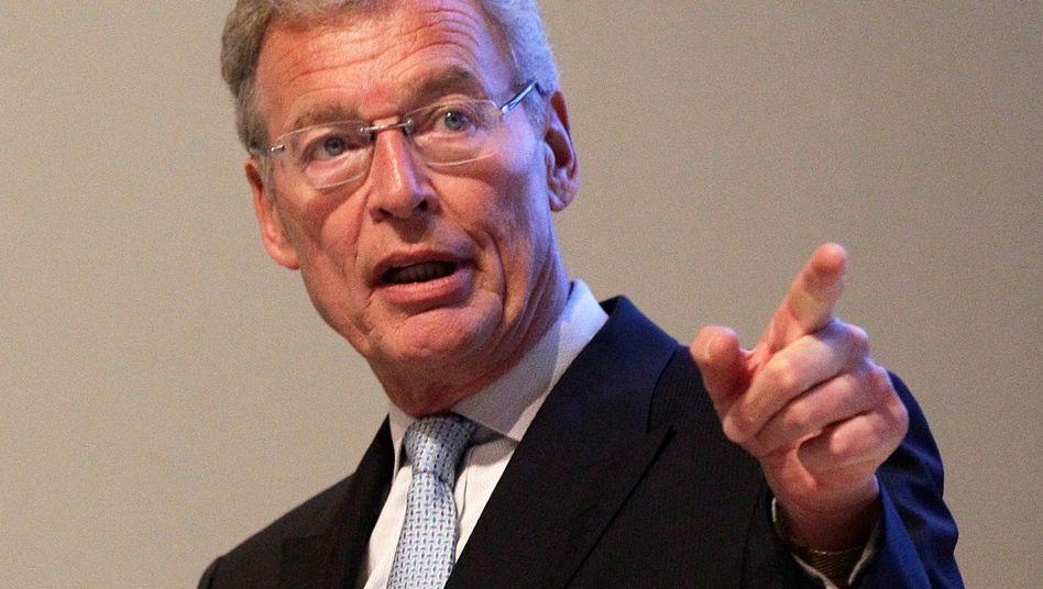 ThyssenKrupp-Aufsichtsratschef Gerhard Cromme muss auf der Hauptversammlung mit kräftigem Gegenwind rechnen