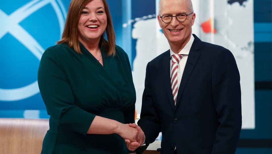 Katharina Fegebank und Peter Tschentscher