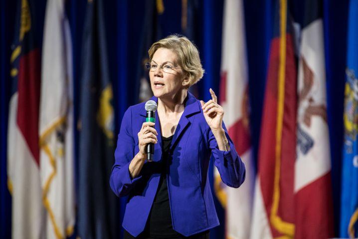 Elizabeth Warren: Die US-Präsidentschaftskandidatin sorgt in der US-Wirtschaft für Angst und Schrecken