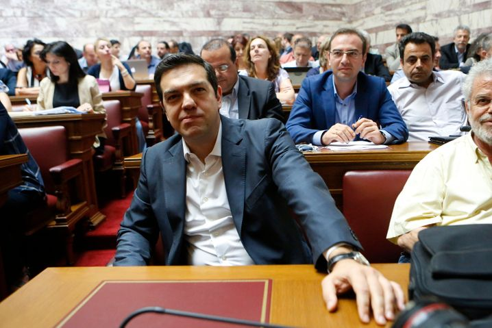 """""""Wenn ich eure Unterstützung nicht habe ..."""": Alexis Tsipras am Mittwoch im griechischen Parlament"""