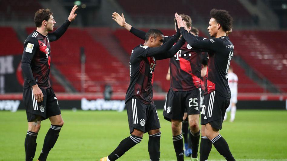 Global Player: Auch die Bayern-Spieler Leon Goretzka, Douglas Costa, Thomas Müller und Leroy Sane bringen nicht mehr das ganz große Geld ein