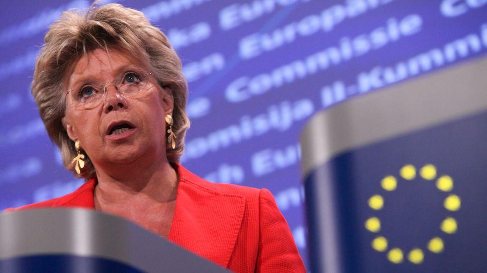 Viviane Reding: AAA-Staaten Europas sollen der Fels in der Brandung sein
