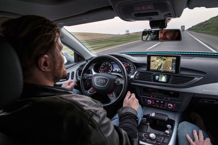 """Audi-Forschungsauto """"Jack"""": Deutsche Autohersteller zeigen auf der CES ihre neuen Konzepte für selbstfahrende Autos"""