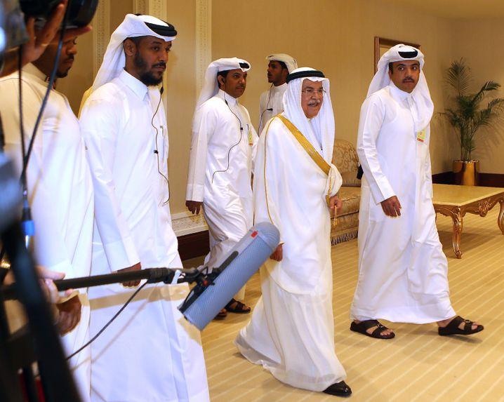 Nur noch repräsentativ: Ölminister Ali al-Naimi in der Mitte seiner Kollegen auf dem Opec-Treffen in Katar