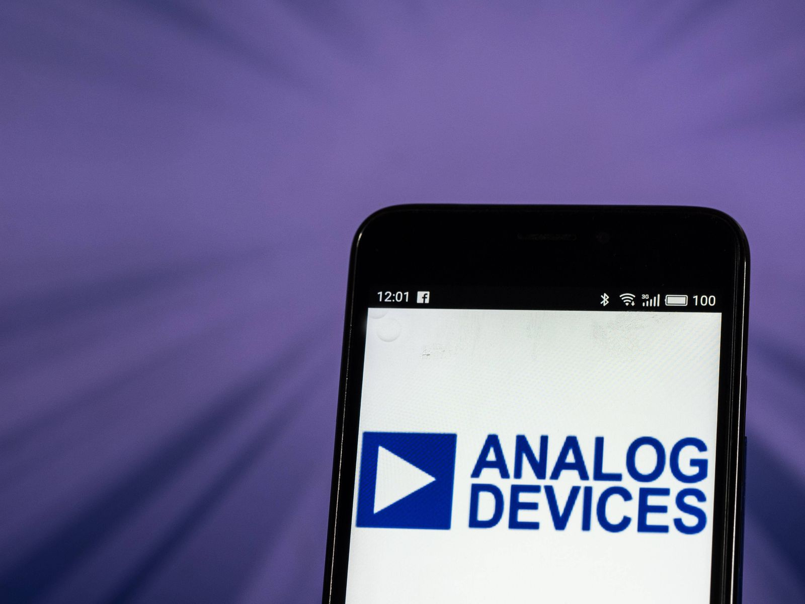 October 26 2018 Kiev Ukraine Analog Devices Inc logo seen displayed on smart phone Analog De